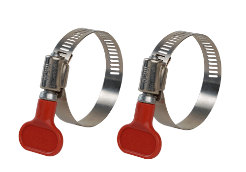 Two Turn Key Stainless Steel Hose Clamps